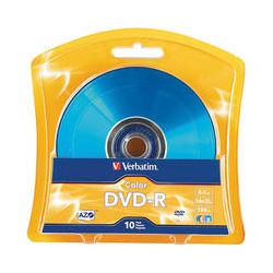 Verbatim AZO DVD-R Colors (4.7 GB/120 Minutes) 97513 B&H Photo