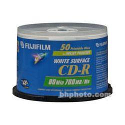 Fujifilm  CD-R White Inkjet Disc (50) 600002931 B&H Photo Video
