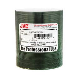 JVC JCDR-TWY-SK White Thermal Printable CDR JCDR-TWY-SK B&H