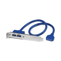 StarTech 2-Port USB 3.0 A Female Slot Plate Adapter USB3SPLATE