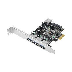 SIIG 4-Port USB 3.0 PCIe i/e Value Dual Profile JU-P40611-S1 B&H