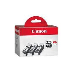 Canon  PGI-220 Black Ink Tank 3-Pack 2945B004 B&H Photo Video