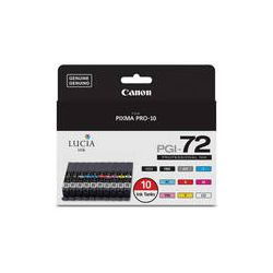 Canon LUCIA PGI-72 10-Color Ink Tank Value Pack 6402B007 B&H