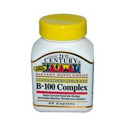 21st Century Health Care, B-100 Complex, Prolonged Release, 60 Caplets