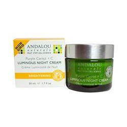 Andalou Naturals, Luminous Night Cream, Purple Carrot + C, 1.7 fl oz (50 ml)