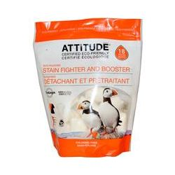 ATTITUDE, Stain Fighter and Booster, 18 Water-Soluble Pouches, 12.7 oz (360 g)