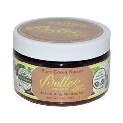 Aroma Naturals, Pure Cocoa Butter with Vitamin E for Face & Body, 3.3 oz (95 g)