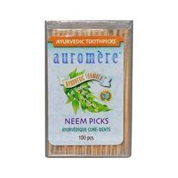 Auromere, Ayurvedic Toothpicks, Neem Picks, 100 Pieces