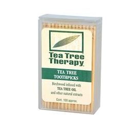 Tea Tree Therapy, Tea Tree Toothpicks, 100 Approx.