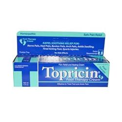 Topricin, Foot Therapy Cream, Pain Relief and Healing Cream, 2 oz