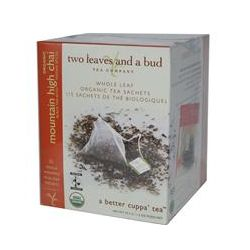 Two Leaves and a Bud, Organic Mountain High Chai, 15 Sachets, 1.3 oz (37.5 g)