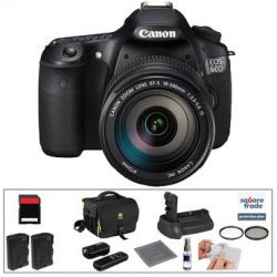 Canon EOS 60D Digital SLR Camera with 18-200mm Lens & B&H