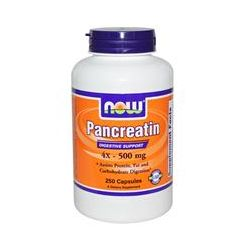 Now Foods, Pancreatin, 500 mg, 250 Capsules