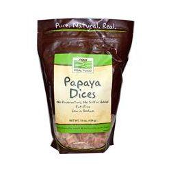 Now Foods, Real Food, Papaya Dices, 16 oz (454 g)