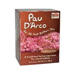 Now Foods, Real Tea, Pau D'Arco, Caffeine-Free, 24 Tea Bags, 1.7 oz (48 g)