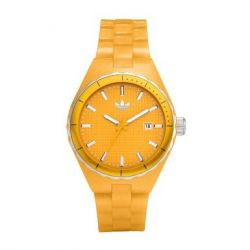 adidas Unisex-Armbanduhr Analog resin gelb Adh2105