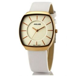 Alienwork Julius Quarzuhr Armbanduhr modisch Uhr elegant Metall weiss weiss UJA-669M-C