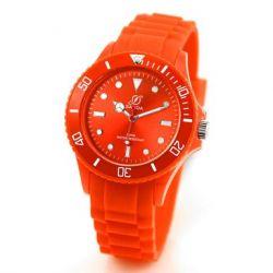 Alienwork Chronos Quarzuhr Armbanduhr Wasserdicht 5ATM Uhr Silikon orange orange U0563F-07-5A