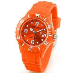 Alienwork Chronos Quarzuhr Armbanduhr Wasserdicht 5ATM Uhr Silikon orange orange U0563-44-5A