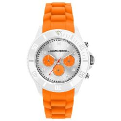 Alienwork Chronosmart Quarzuhr Armbanduhr Multi-funktion Uhr Silikon orange orange U0578-06