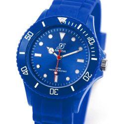 Alienwork Chronos Quarzuhr Armbanduhr Wasserdicht 5ATM Uhr Silikon blau blau U0563F-03-5A