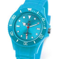 Alienwork Chronos Quarzuhr Armbanduhr Wasserdicht 5ATM Uhr Silikon türkis türkis U0563F-04-5A