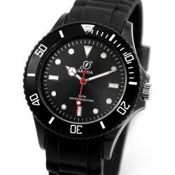 Alienwork Chronos Quarzuhr Armbanduhr Wasserdicht 5ATM Uhr Silikon schwarz schwarz U0563F-01-5A