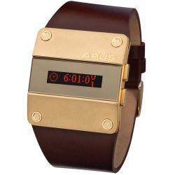 APUS Alpha Gold Desire AP-AH-BR-RT-GO-C OLED Uhr für Herren 2. Zeitzone