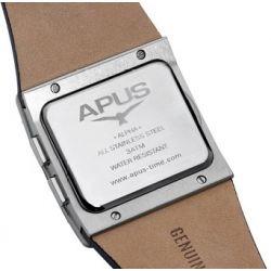 APUS Alpha Red Pulse AP-AH-SW-RT-SL-L OLED Uhr für Herren 2. Zeitzone