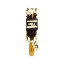 Bass Brushes, Semi Oval (soft) 100% Wild Boar Bristles, Wood Handle For Fine Hair, 1 Hair Brush