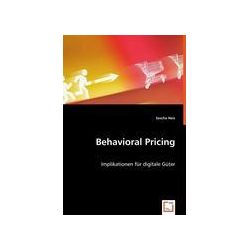 Bücher: Behavioral Pricing  von Sascha Neis