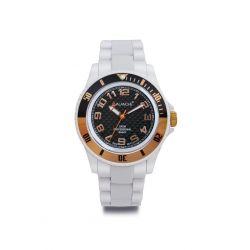 Avalanche Watch Unisex-Armbanduhr Analog Plastik weiss AV-101P-WHRG-40