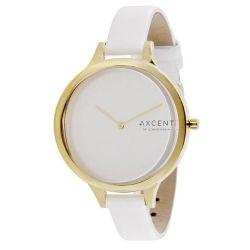 Axcent Damen-Armbanduhr Sleek Analog Quarz Weiß IX14028-631