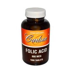 Carlson Labs, Folic Acid, 800 mcg, 1000 Tablets