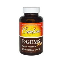 Carlson Labs, E·Gems Plus, 200 IU, 250 Soft Gels
