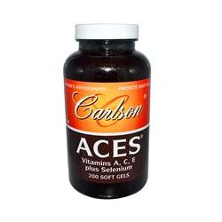 Carlson Labs, Aces, Vitamins A, C, E Plus Selenium, 200 Softgels