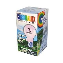 Chromalux, Lumiram, Full Spectrum Lamp, A21 150W Frosted, 1 Light Bulb