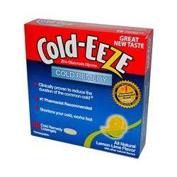 Cold Eeze, Zinc Gluconate Glycine, Cold Remedy, Lemon Lime Flavor, 18 Cold Remedy Lozenges
