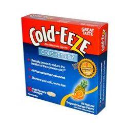 Cold Eeze, Zinc Gluconate Glycine, Cold Remedy, Tropical Orange Flavor, 18 Cold Remedy Lozenges