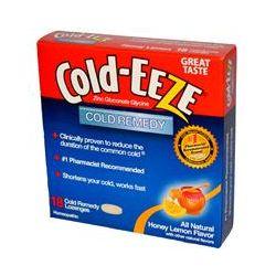 Cold Eeze, Zinc Gluconate Glycine, Cold Remedy, Honey Lemon Flavor, 18 Lozenges