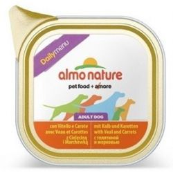 Almo Nature Daily Menu Pies - Cielęcina i marchew tacka 100g [222]