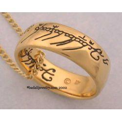 Jedyny pierścień LOTR Gollum Gold Necklace Black (GG-02)
