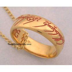 Jedyny pierścień LOTR Gollum Gold Necklace Red (GG-03)