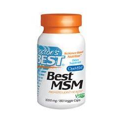 Doctor's Best, Best MSM, 1000 mg, 180 Veggie Caps