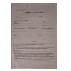 druki medyczne - Zlecenie na transport sanitarny NFZ-3A