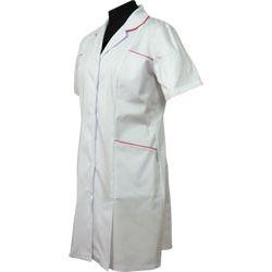 Sukienka medyczna z kontra fałdą 230 dla lekarzy i pielęgniarek