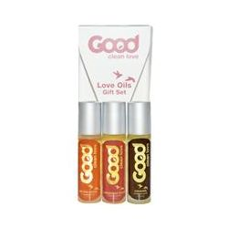 Good Clean Love, Love Oils Gift Set, 3 Piece Set, 1/3 fl oz Each