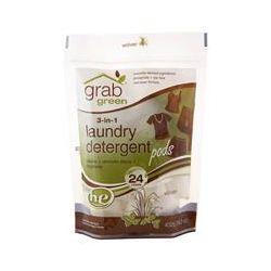 GrabGreen, 3-in-1 Laundry Detergent Pods, Vetiver, 24 Loads, 15.2 oz (432 g)