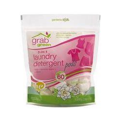 GrabGreen, 3-in-1 Laundry Detergent Pods, Gardenia, 60 Loads, 2 lbs 4 oz (1080 g)