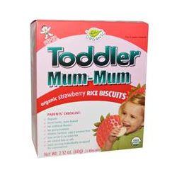 Hot Kid, Toddler Mum-Mum, Organic Strawberry Rice Biscuits, 24 Biscuits, 2.12 oz (60 g)